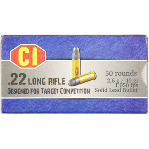Picture of .22 Long Rifle Cascade Cartridge Internacional 40gr LRN - 50 Rounds