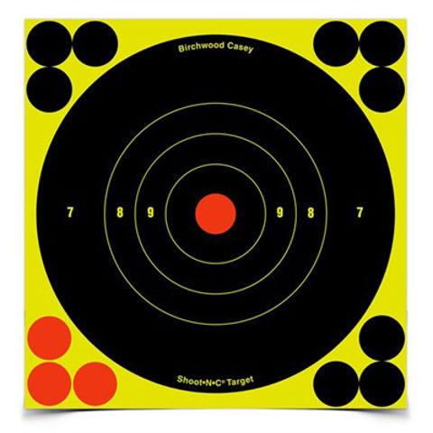 "Picture of Shoot-N-C 6"" Bull's-Eye Target 60 Sheet Pack"