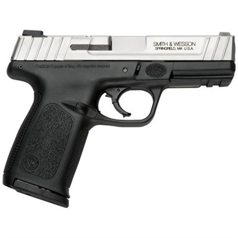 """Picture of Smith & Wesson SD9 VE 9mm 4""""  Barrel Stainless Low Cap."""