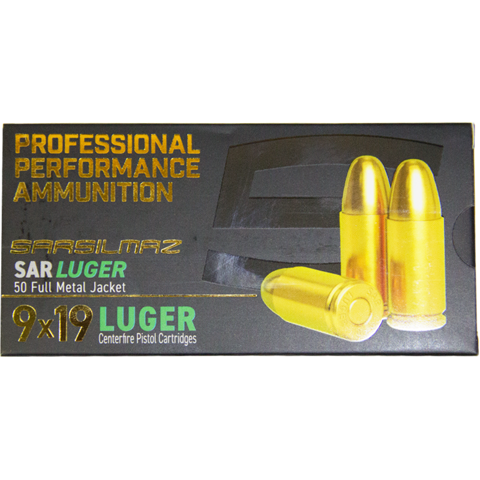Picture of Sarsilmaz 9mm 115gr FMJ - 50 Rounds