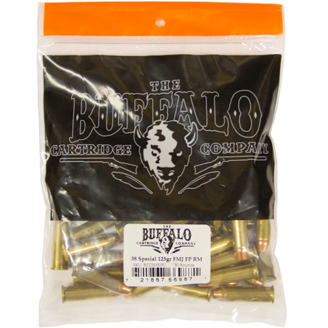 Picture of .38 Special Buffalo Cartridge 125gr FMJ FP RM - 50 Rounds