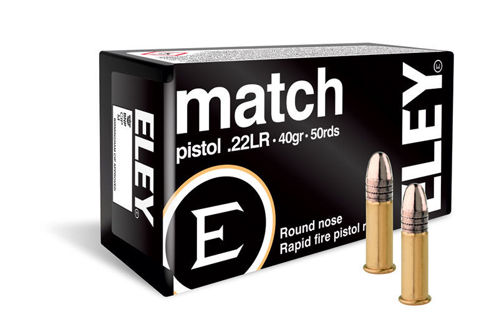 Picture of .22 Long Rifle Eley Match Pistol 40gr RN - 50 Rounds
