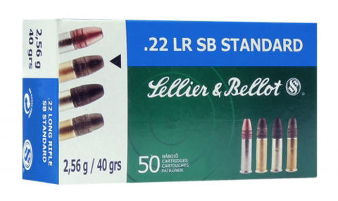 Picture of .22 Long Rifle Sellier & Bellot SB Standard 40gr LRN - 50 Rounds