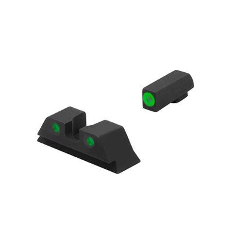 Picture of HVS Set For Glock~ 9/40/357, Green Outline Front